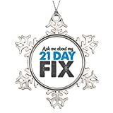 Tree Branch Decoration 21 Day Fix Tree Snowflake Ornaments