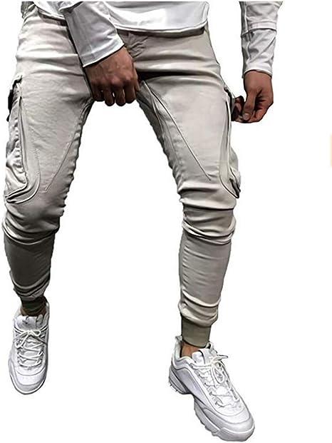 WDFWORD メンズ ジョガー ズボン スリムフィットロングパンツ スウェットパンツ ポケット付き長パンツ カジュアル 男性