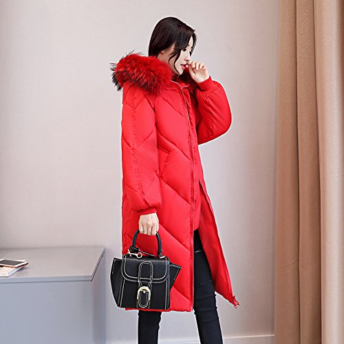 Dress Thickening Xuanku Long Women The And Sau Coat Jacket Feather Cotton Code red Cotton Cotton HUnnxa8