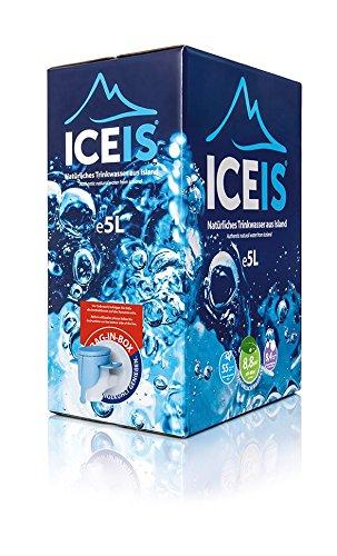8 opinioni per ICEIS – Acqua naturale alcalina (pH 8.8) da un ghiacciaio in Islanda – 5L. box