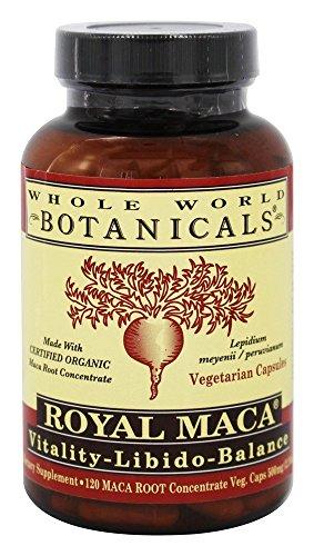 Monde Entier Plantes - Royal Maca Vitalité-Libido-Solde - 120 Capsules Végétariennes