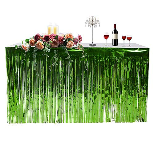 (Guinite Decoration Fringed Table Skirt Hawaiian Party Table Skirt Celebration Thickened Table Skirt Curtain Holiday)