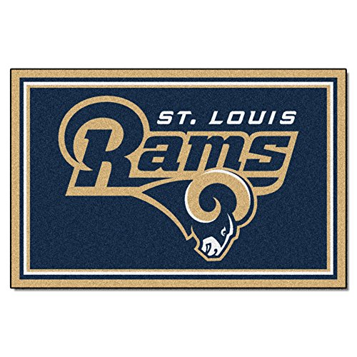 FANMATS NFL Los Angeles Rams Nylon Face 5X8 Plush Rug by Fanmats