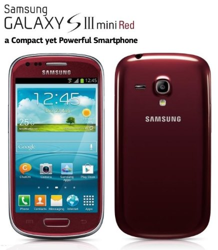 Samsung Galaxy S III Mini I8190 Red / Gt-i8190 S3 Mini , 4.1 Jelly Bean ,4 Inch Surprise Gift for Everyone Fast Shipping
