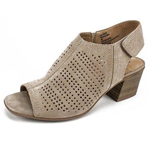 White Mountain Shoes Lorna Women's Sandal, Taupe/Suede, 10 M (Shoes Mountain White Women)