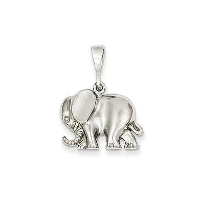 Amazon ice carats 14k white gold elephant pendant charm ice carats 14k white gold elephant pendant charm necklace animal fine jewelry gift set for women aloadofball Choice Image
