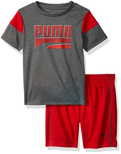 PUMA Baby Boys' 2 Piece Tee & Short Set, Charcoal Heather, 24M ()