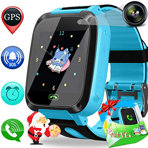 - Smart Watch Phone GPS Tracker for Kids Girls Boys with Cellphone SOS Anti-Lost Alarm Clock Camera 1.44