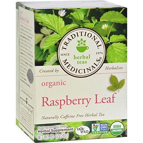 Traditional Medicinals Organic Raspberry Leaf Herbal Tea - Caffeine Free - 16 Bags ()