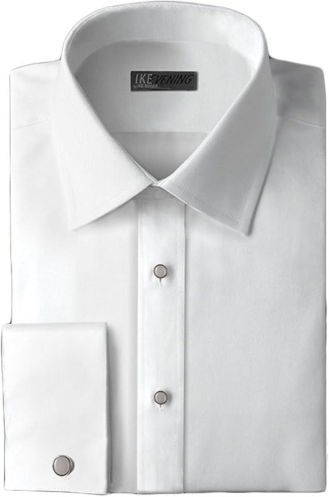 Ike Behar Twill Non-Pleated Laydown Collar Tuxedo Shirt