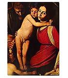 Holy Family & John Baptist (Caravaggio) Kitchen Bar Glass Cutting Board 16''X11''