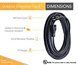 Woods 982452 50-Foot SJTOW Agricultural Outdoor Heavy Duty Extension Cord, Black