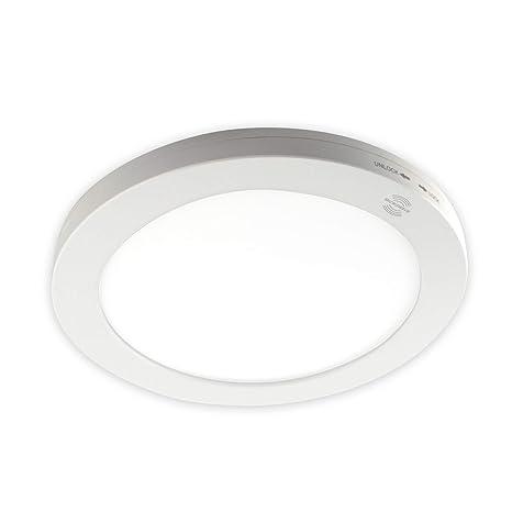 Panel de LED con detector de movimiento (Ø220 mm 18 W Colores conmutable blanco neutro
