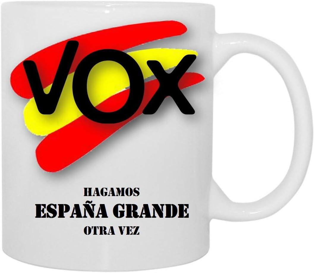 Desconocido Taza VOX Hagamos ESPAÑA Grande Otra Vez: Amazon.es: Hogar