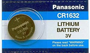 CR1632 3V Panasonic 3 Volt Lithium Coin Size Single-Battery
