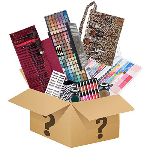 SHANY Holiday Surprise – Exclusive All in One Makeup Set – Includes Pro Makeup Brush Set, Eyeshadow Palette ,Makeup Set, Lipgloss Set and etc. – COLORS VARY