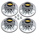 5 lug chevy truck wheels - Set of 4 New GM Licensed Chevrolet Chevy C1500 Truck Blazer Suburban 15 inch 5 Lug Rally Wheel Center Caps
