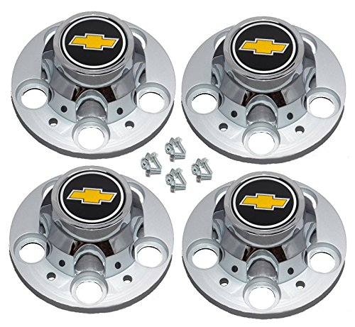 Set of 4 New GM Licensed Chevrolet Chevy C1500 Truck Blazer Suburban 15 inch 5 Lug Rally Wheel Center Caps