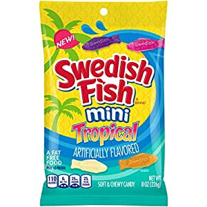 Swedish fish mini tropical fat free candy 8 for Swedish fish amazon
