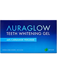 AuraGlow Teeth Whitening Gel Syringe Refill Pack, 44% Carbamide Peroxide, (3x) 5ml Syringes
