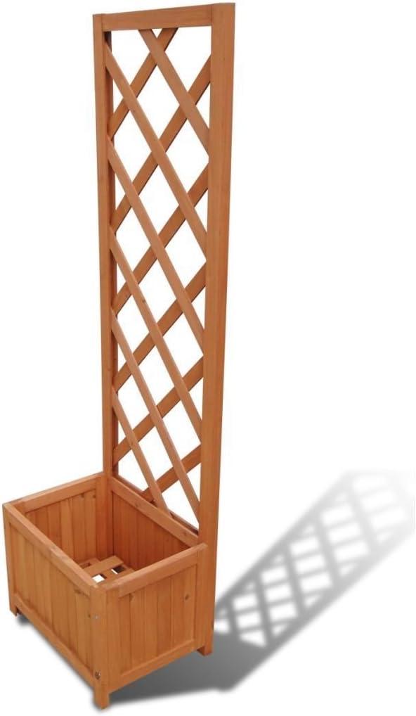 Blumen Kasten 40x30x135 cm Spalier Holz Blumenk/übel WT Trade Premium Garten Rankhilfe mit Pflanzenkasten Rosenbogen Rankgitter Pflanzengef/äss