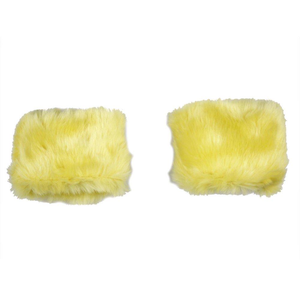 xhorizon 1Pair Fab Faux Fur Short Wrist Arm Cuff Warmer Wristband Lovely Winter(Yellow) CAP216