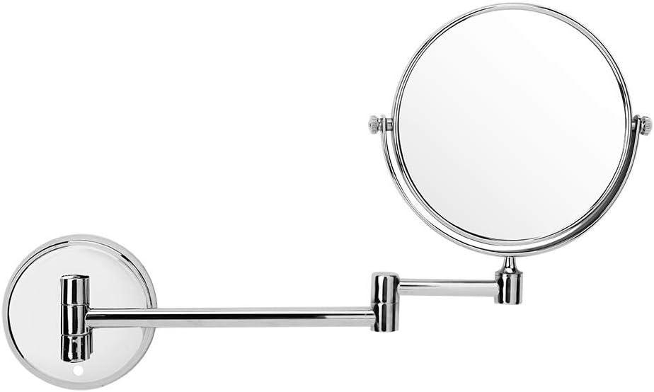 1x avec Pivot prolongateur de 11,6 Pouces pour lavabo et Salle de Bain 6inch Double Face Miroir grossissant avec Miroir grossissant 3X Miroir de Maquillage Mural