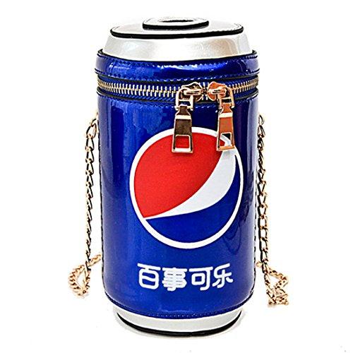 cuero bolso Messenger cartera Luckywe monedero Azul Cola bolso bandolera puede Mujeres g7TqEf
