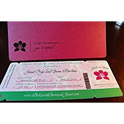 Boarding Pass Invitations - Orchid