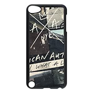 Los autores estadounidenses OH, qué vida funda iPod Touch 5 Funda Caso de la cubierta negro, funda de plástico caja del teléfono celular