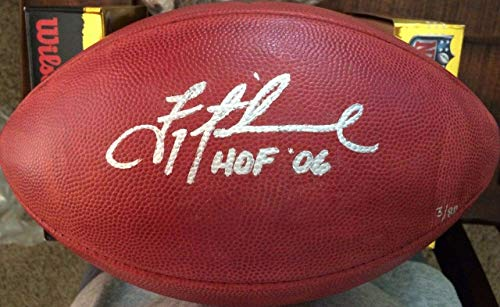 Troy Aikman Dallas Cowboys Signed Autograph Authentic Duke NFL Football Hall Of Fame Inscribed Steiner Sports Certified