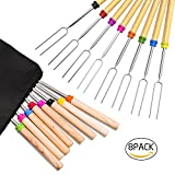 Roasting Sticks, Ezire Marshmallow Roasting Sticks 32 Inch Extendable Forks for BBQ at the...
