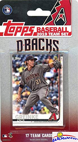 - Arizona Diamondbacks 2019 Topps Baseball EXCLUSIVE Special Limited Edition 17 Card Complete Team Set with Zack Greinke, Jake Lamb & Many More Stars & Rookies! Shipped in Bubble Mailer! WOWZZER!