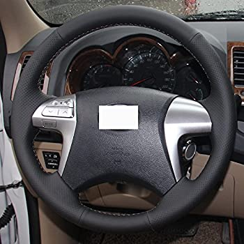imported microfiber leather steering wheel cover for 2005 2011 toyota tacoma 2003. Black Bedroom Furniture Sets. Home Design Ideas