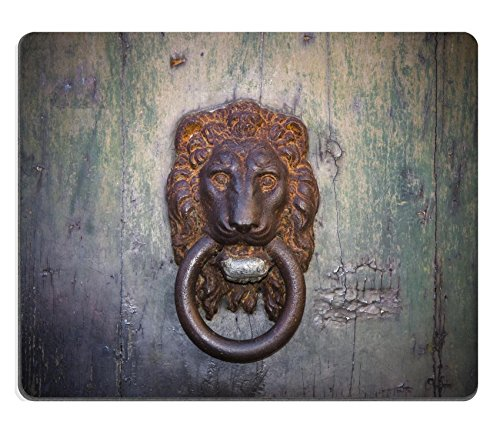 MSD Natural Rubber Mousepad IMAGE ID 36961758 Door knocker Old rusty door detail