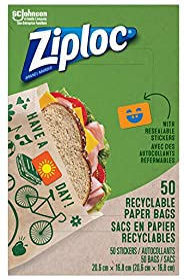 Ziploc Brand Paper Bag Sandwich 50ct 50 count
