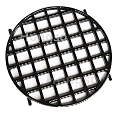 Hongso Pch834 Porcelain Coated Cast Iron Gourmet Bbq System Sear Grate Replacement For 22 5 Weber Charcoal Grills For Weber 8834 This Item Only 12 Inches In Diameter