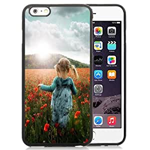 Beautiful Custom Designed Cover Case For iPhone 6 Plus 5.5 Inch With Little Girl In Flower Fields Phone Case
