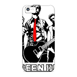 Excellent Hard Cell-phone Case For Iphone 5c (JwW14706hLRP) Custom Stylish Green Day Band Pattern