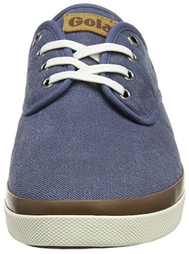 Gola Seeker Linen, Zapatillas para Hombre Azul (Slate Blue De)