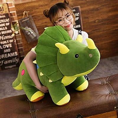 Cute rabbit Dinosaur Plush Toy Stuffed Animal Toy Triceratops Plush Animal Doll (Green, 20 inch): Toys & Games