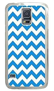 Samsung S5 fashion cover Chevron Blue Pattern PC Transparent Custom Samsung Galaxy S5 Case Cover