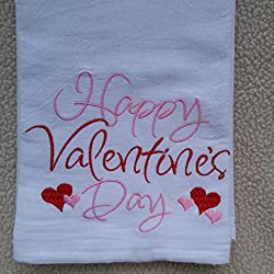Happy Valentine's Day flour sack towel, monogrammed tea towel, Southern sayings, monogrammed flour sack towel, tea towel