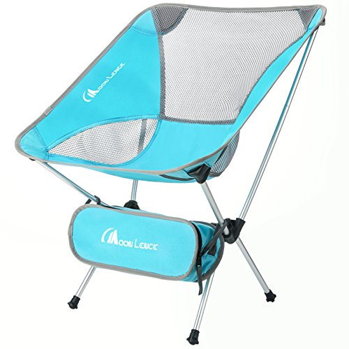 (MOON LENCE Ultralight Portable Folding Camping Backpacking Chairs with Carry Bag (newblue))