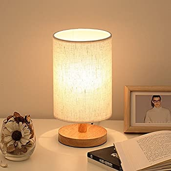 Wood table lamp hqoon bedside table lamps for bedroom living room wood table lamp hqoon bedside table lamps for bedroom living roomled night aloadofball Images
