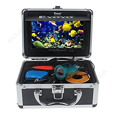 "Eyoyo 50M 7"" HD 800480p Monitor 1000TVL Infrared Underwater Camera Ice/Sea Fishing Fish Finder With DVR Recording + 4GB SD Card + Lights Control + Keychain from Eyoyo"
