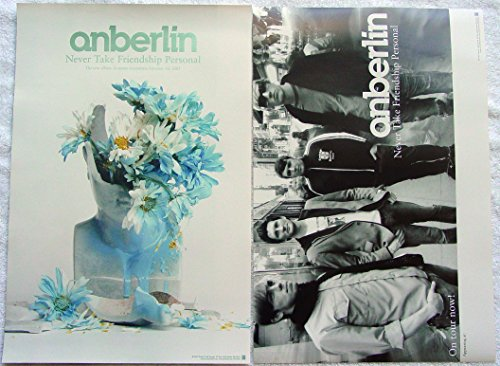 Anberlin - Never Take Friendship Personal - Two Sided Poster - Rare - New - SaGoh - Servants After God's Own Heart - Stephen Christian - Joseph Milligan - Nathan Young - Joey Bruce - Deon Rexroat - Nathan Strayer