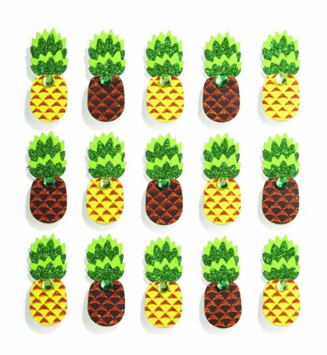 Jolee's Boutique Repeats Dimensional Stickers, Pineapple (Boutique Stationary)