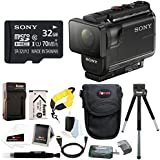 Sony HDR-AS50/B Full HD 1080p Action Cam 32GB MicroSD Card & Battery Pack Bundle