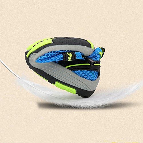 Zapatillas de Senderismo Planos Malla Transpirable Low Rise Peso Ligero Camper Sandalias Escarpines Unisex Niños Azul